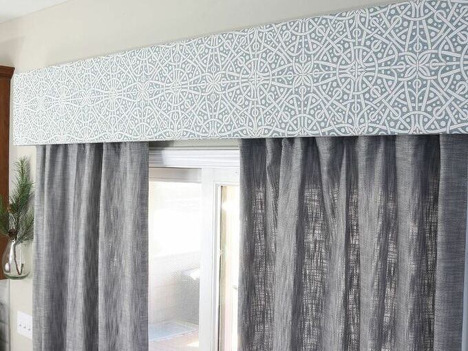 diy fabric cornice box add character to your windows for less