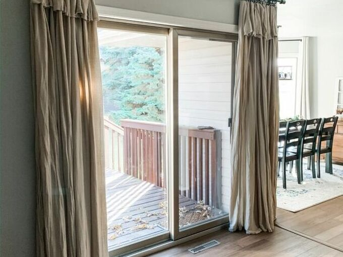 easy no sew drop cloth curtains