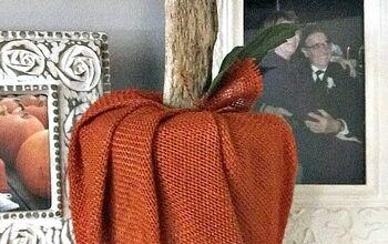 Burlap TP Pumpkin Decor