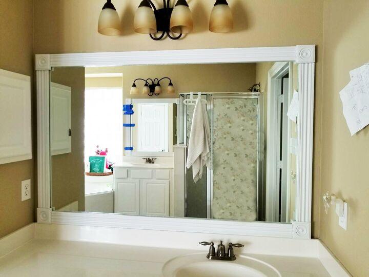 Simple Ways To Make A Framed Bathroom Mirror Hometalk