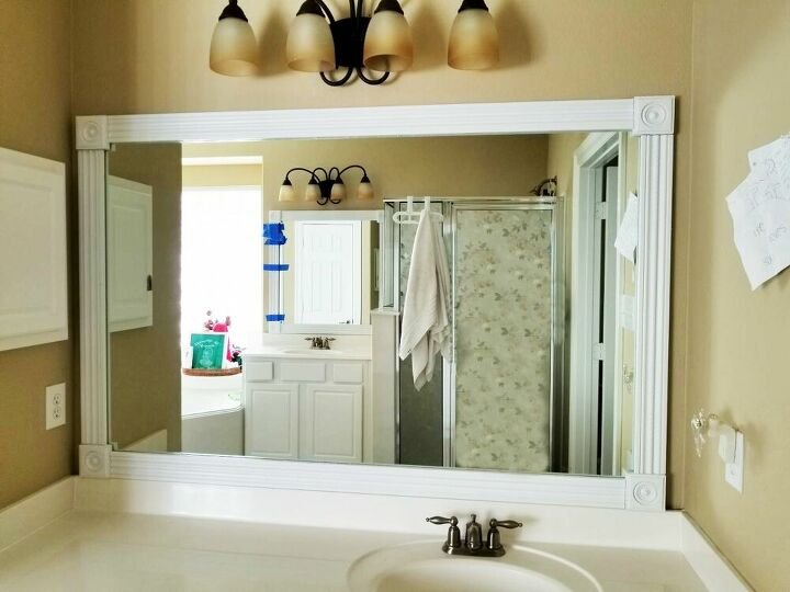 Create a Framed Bathroom Mirror That You'll Want to Keep Looking At