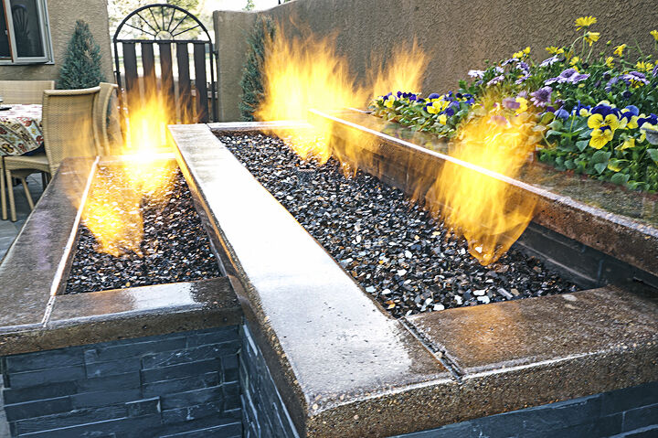 Tiered Outdoor Propane Fireplace
