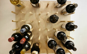 How to DIY: Oversized Pegboard Wall Mount Wine Rack
