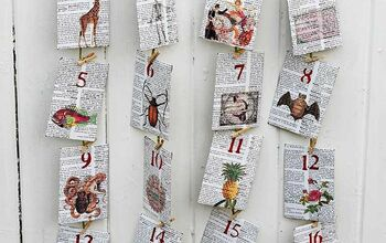 Upcycled Old Dictionary Into a Fun Educational Advent Calendar
