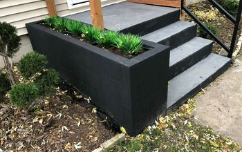 Cinder Block Entryway Planter