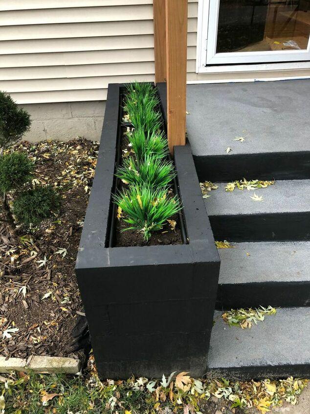 Homemade Cinder Block Planter