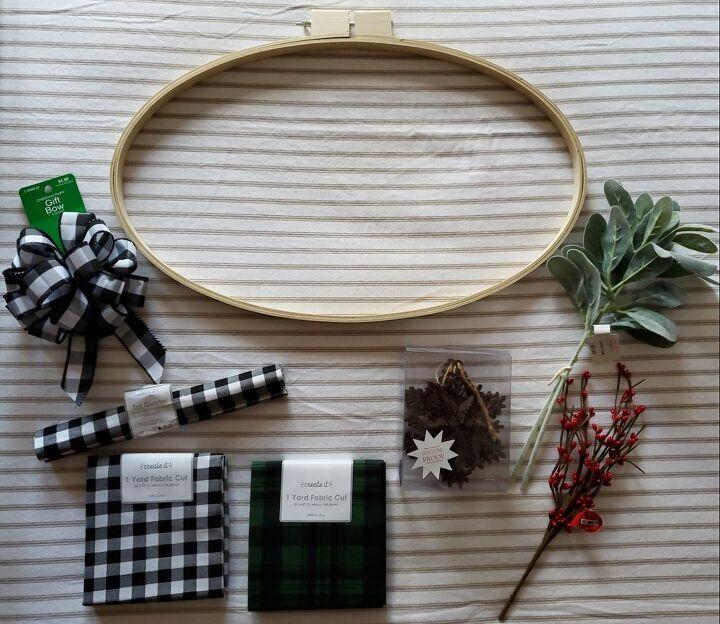 holiday hoop wreath
