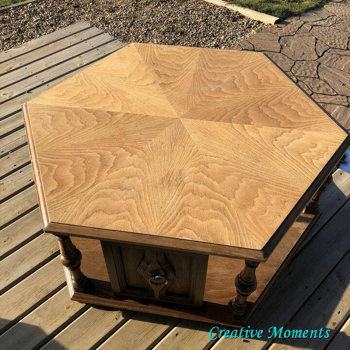 charcoal geometric coffee table
