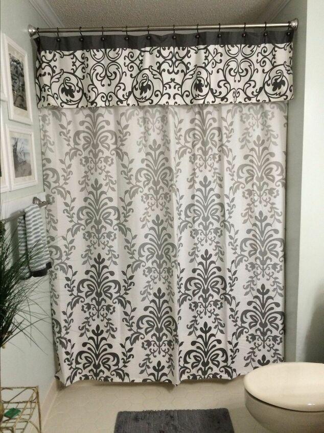 DIY no sew shower curtain