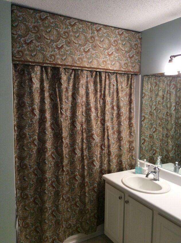 DIY vintage shower curtain