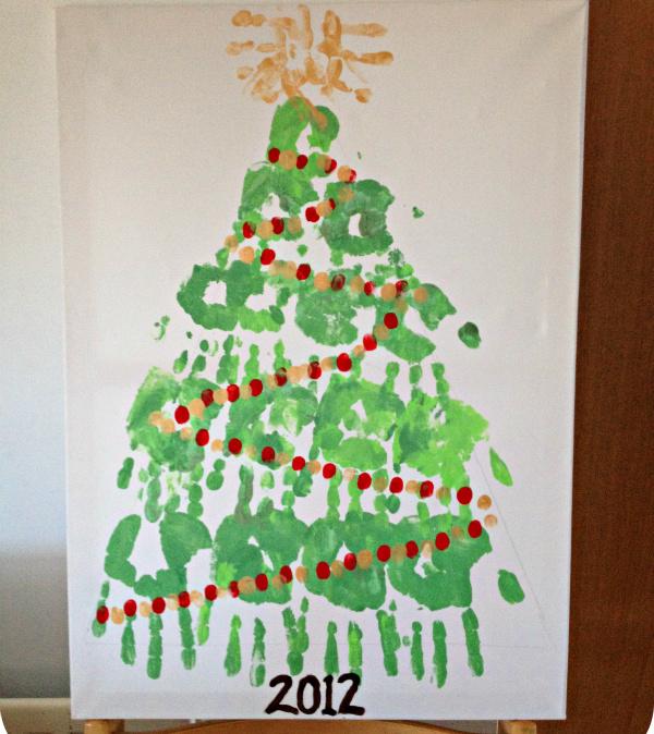 handprint christmas tree canvas a family heirloom