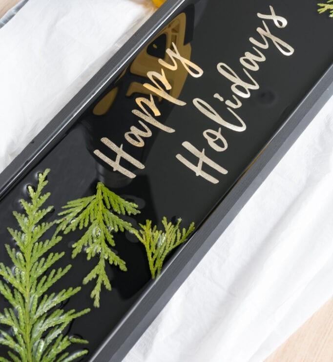 natural holiday decor using evergreen cuttings