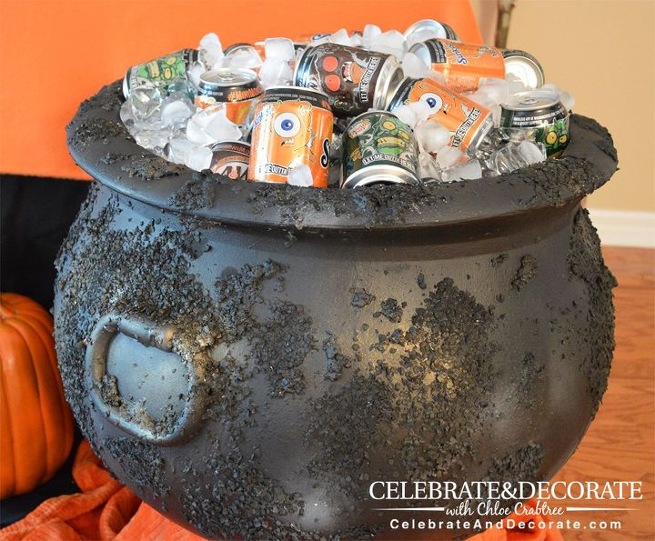 create a creepy looking cauldron