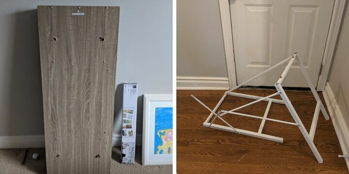 upgrading a big box store desk with hairpin legs
