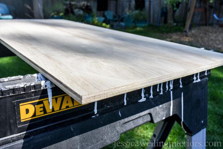 easy diy floating desk