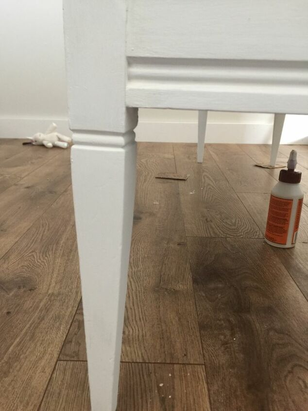broken coffee table turned bench