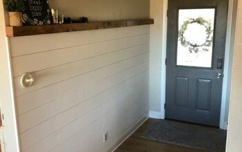 Faux Shiplap Wall Treatment