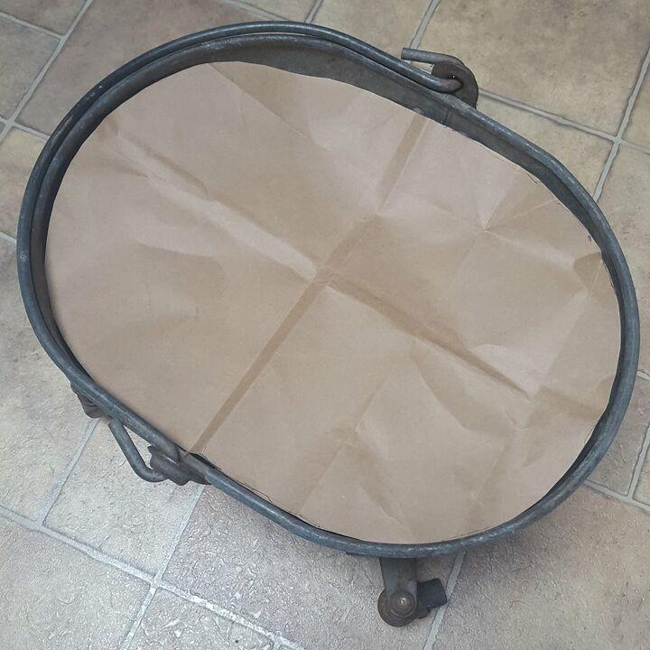 vintage mop bucket ottoman