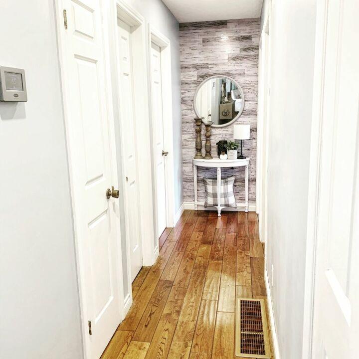 diy faux wood wall