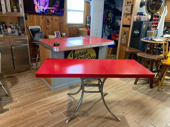 Bar Top Replacement With A 1950 S Red