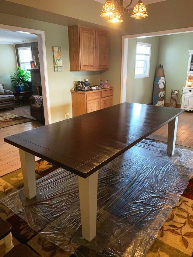 how to redo a dinning room table with gel stain