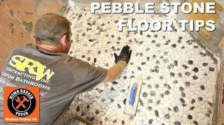 q how do i make my own river rock shower floor