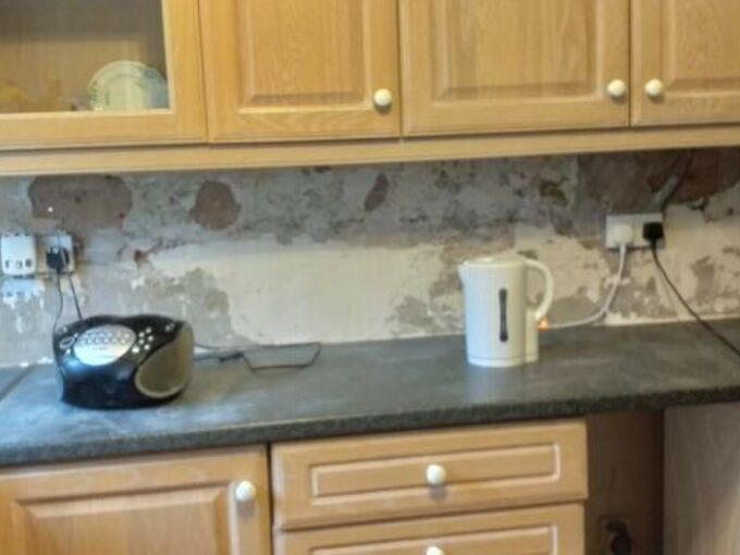 q how can i create cheep backsplash cant afford tiles at mo