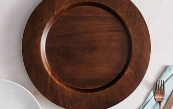 DIY Wood Grain Charger Plates