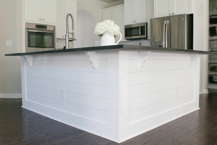 diy how to add shiplap to your kitchen island
