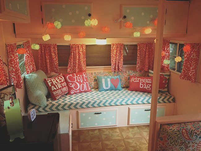 DIY glamping camper