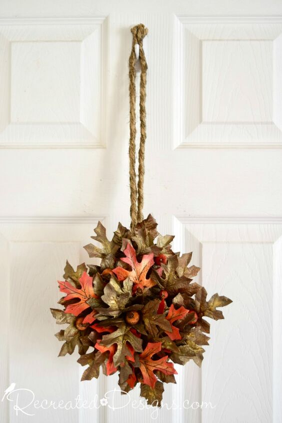 make a unique wreath out of an old basket