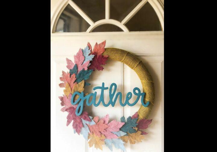 colorful fall wreath