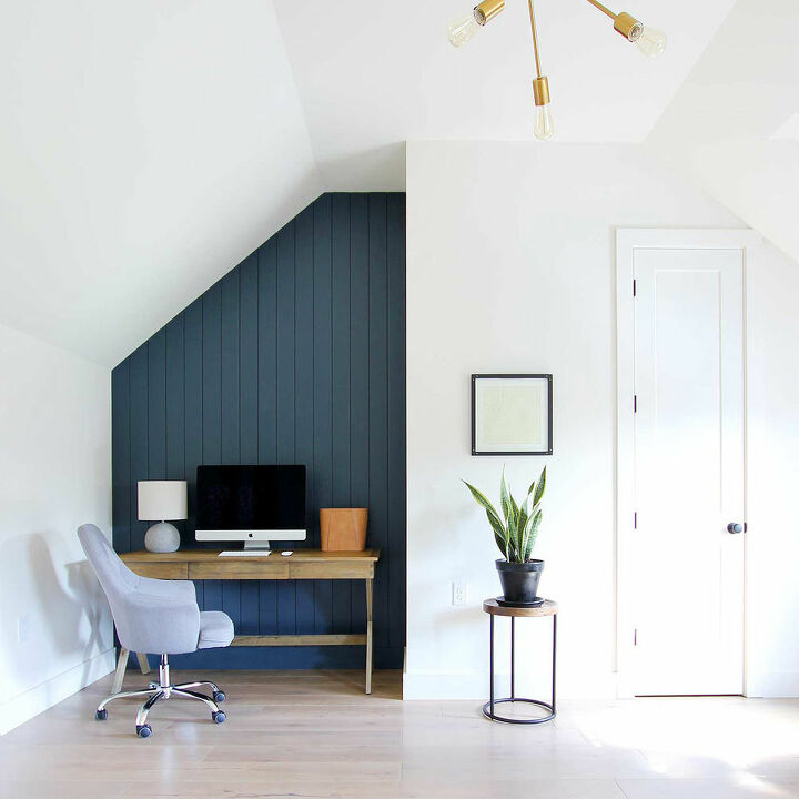 How To Create A Dark Vertical Shiplap Accent Wall DIY