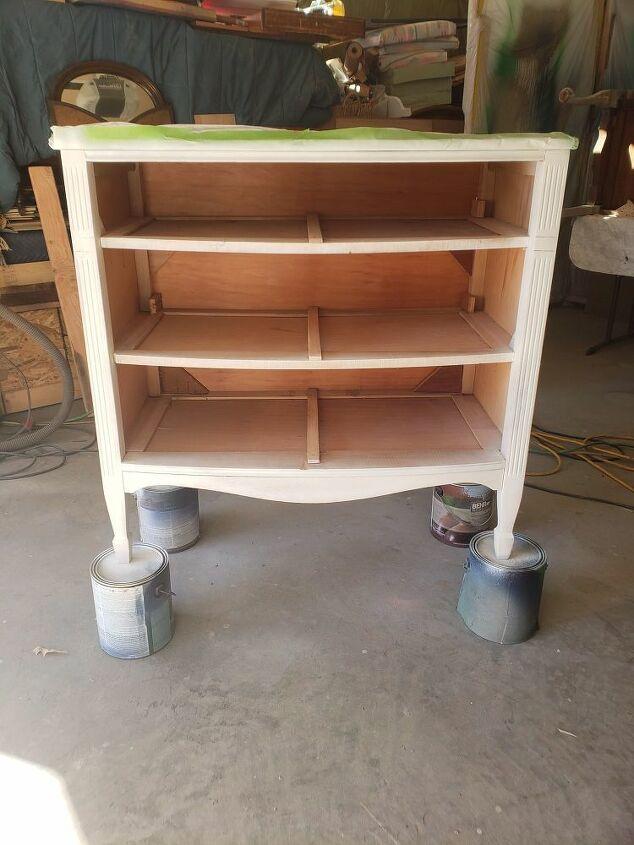 upcycled thrift store dresser makeover