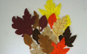 Autumn / Fall Leaves From Felt to Decorate Your Home