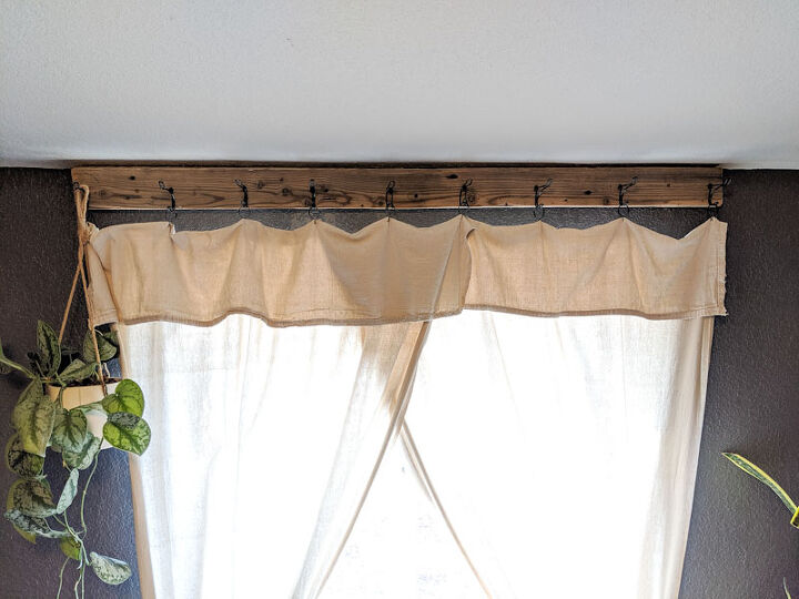 diy farmhouse style window treatment