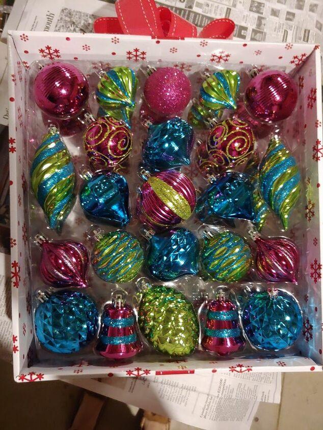 faux vintage christmas ornaments