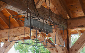 How to Build a Rustic Outdoor Hanging Light ~ With Step by Step Video