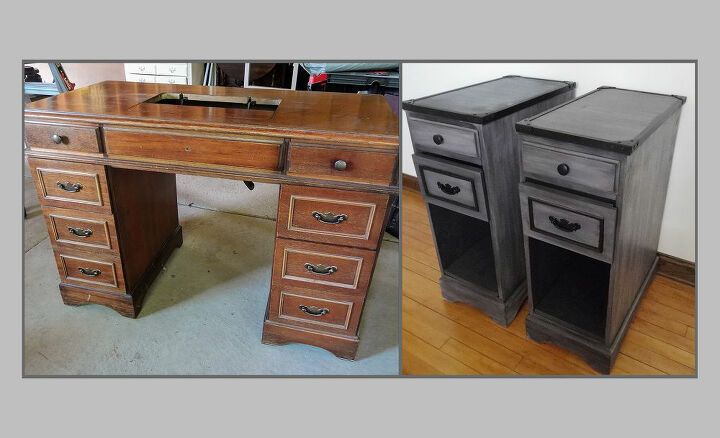 transforming a desk into two night stands