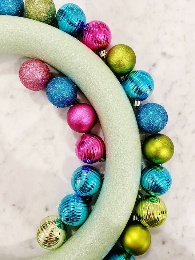 bright and merry ornament wreath