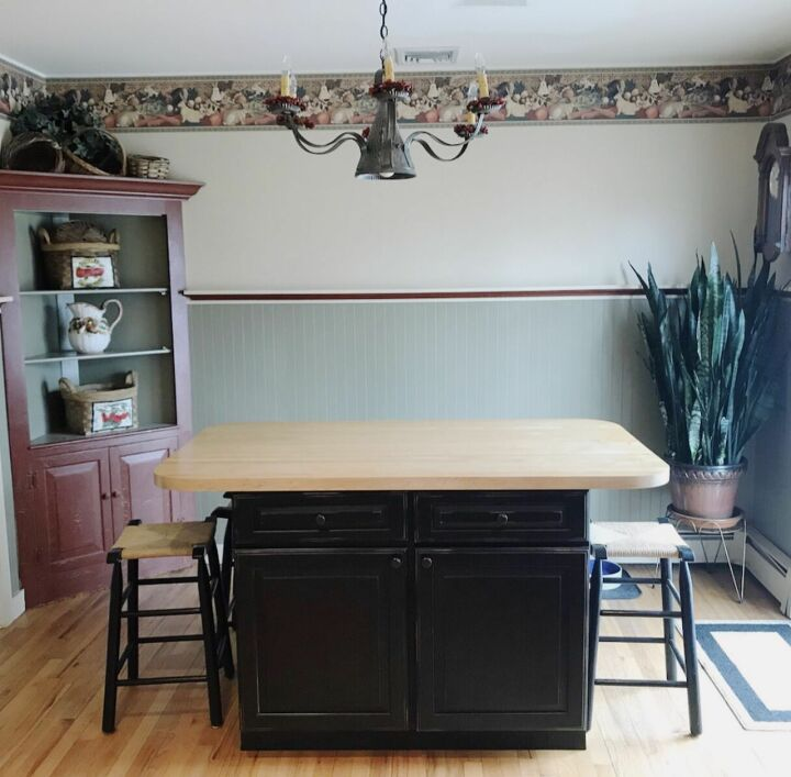 The kitchen was totally outdated.