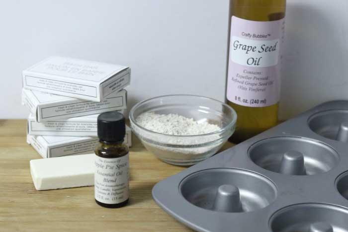 apple pie spice oatmeal soaps