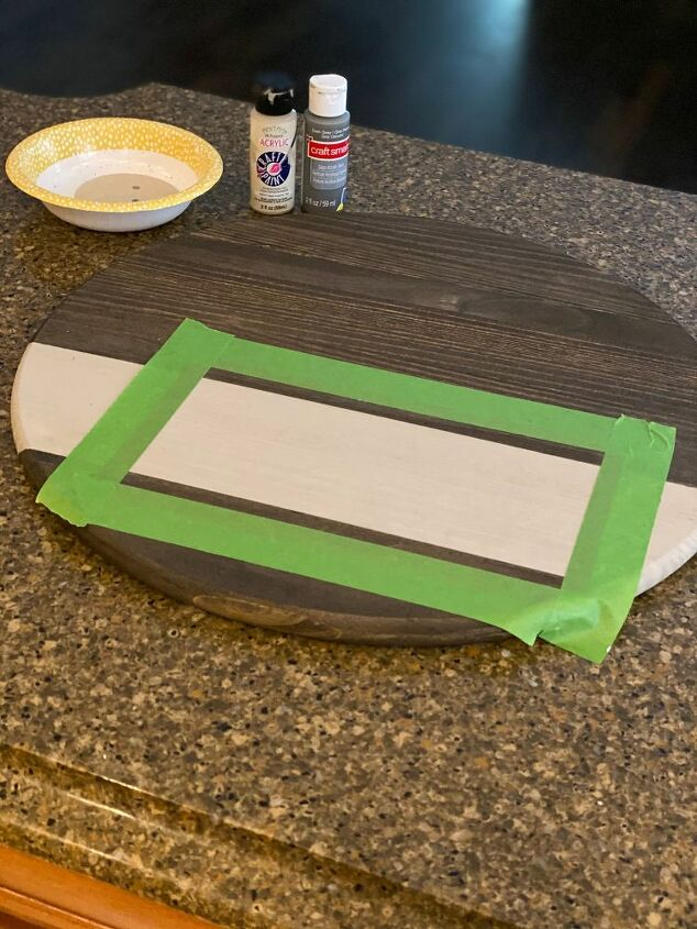 diy round wooden serving tray
