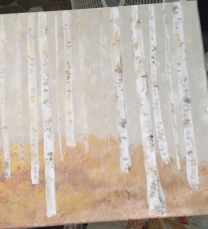 Creating the birch trees