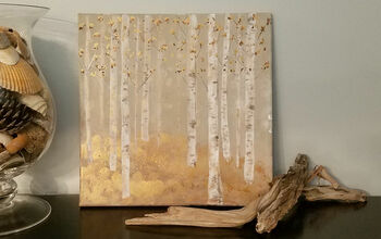 Fall Inspired Birch Trees Canvas Art