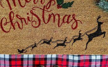 DIY Holiday Doormat