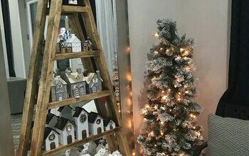 DIY Wooden Christmas Tree Shelves