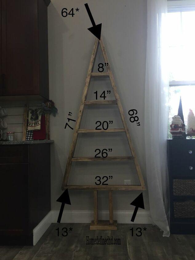 diy wood christmas tree shelves