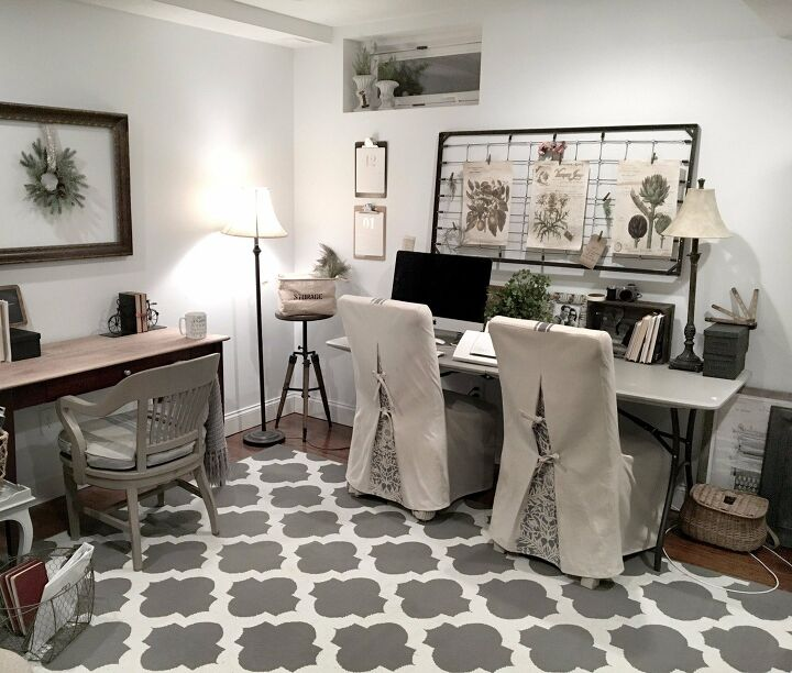 craft room wall display furniture