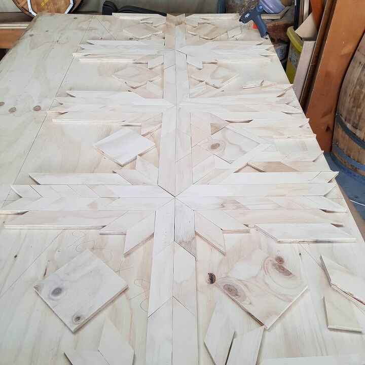 how to make a barn quilt headboard